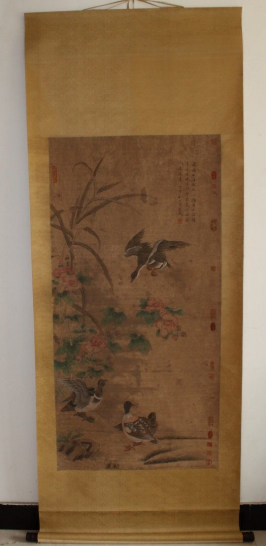 Chinese Painting Flower and Bird Scroll