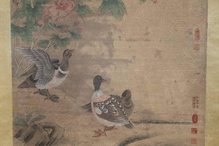 Chinese Painting Flower and Bird Scroll - 8