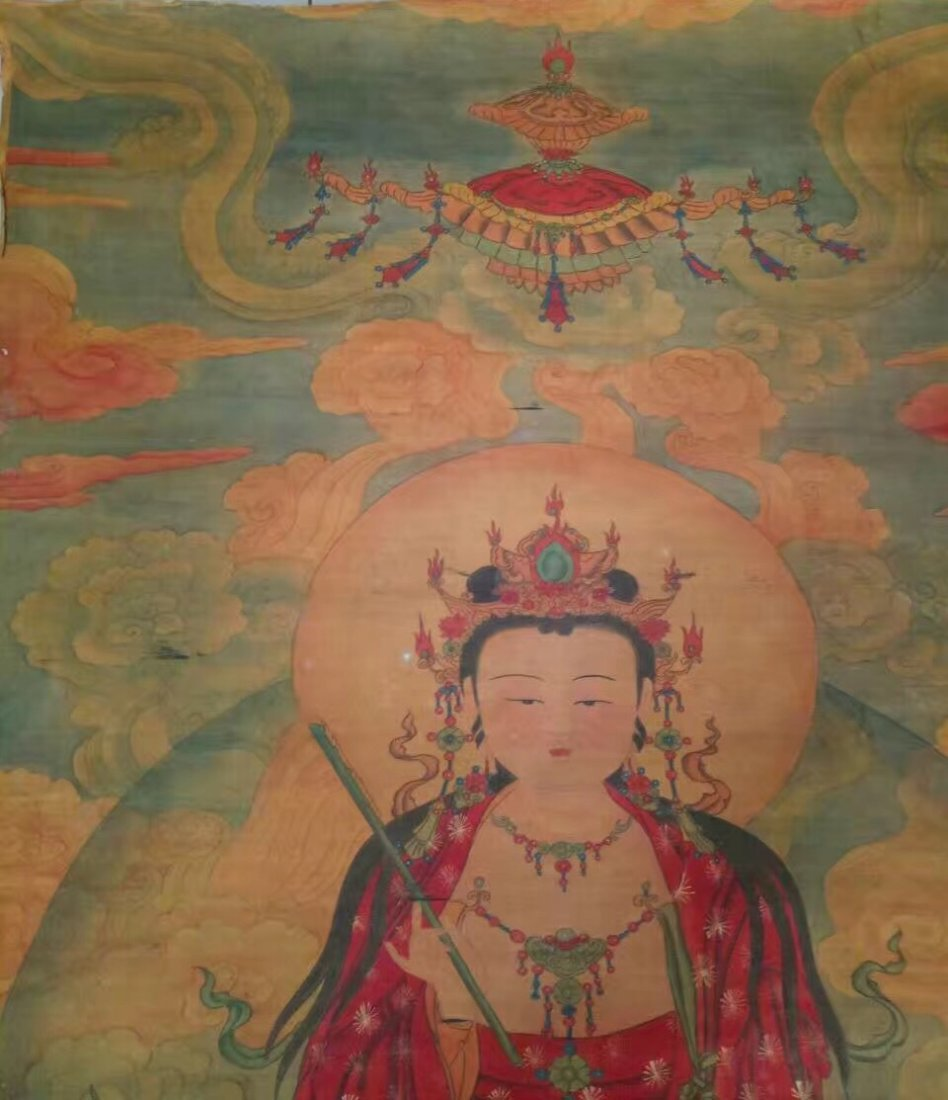 A Fine and Rare Embroidered Thanka of The Buddha - 2