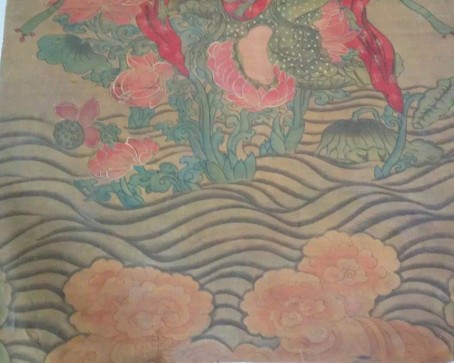 A Fine and Rare Embroidered Thanka of The Buddha - 4