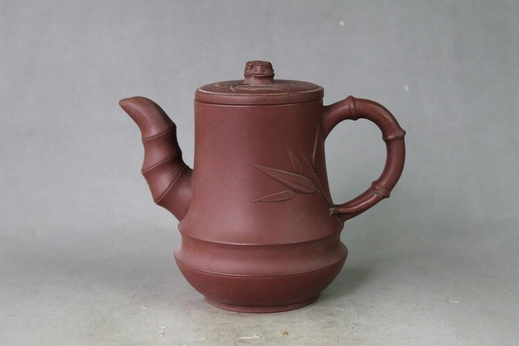 Chinese Yixing Zisha Carved Teapot