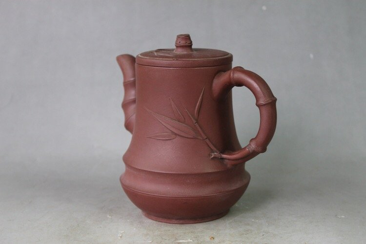 Chinese Yixing Zisha Carved Teapot - 2
