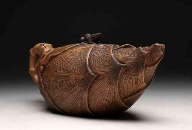 Chinese ZIsha Bamboo Shoots Teapot - 2