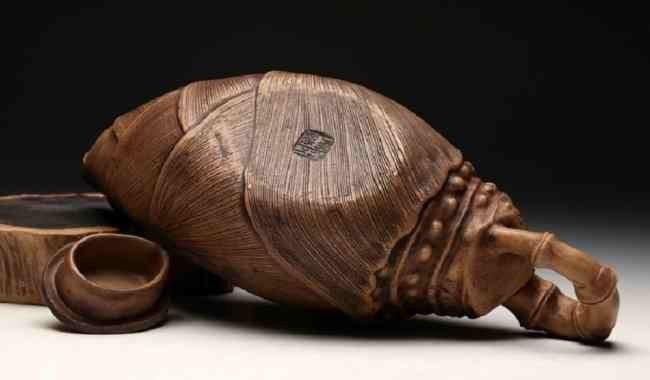 Chinese ZIsha Bamboo Shoots Teapot - 4