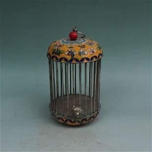 Antique Chinese Cloisonne enamel Birdcage