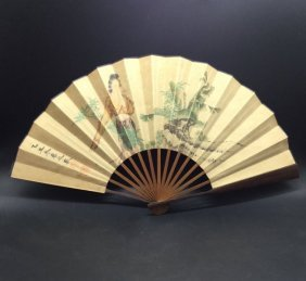 Antique Chinese Fan Paining