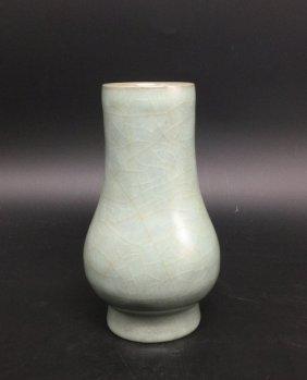 A Guan-Type Glazed Porcelain Vase