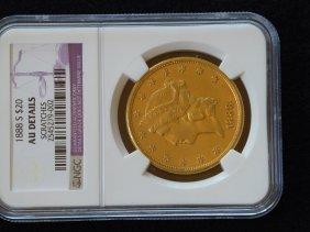 1888 S $20 NGC AU Details