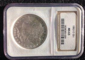 US1883-O $1 NGC MS63