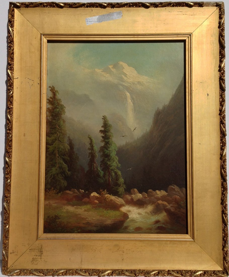Original oil by Ferdinand Sommer late 1800s signed