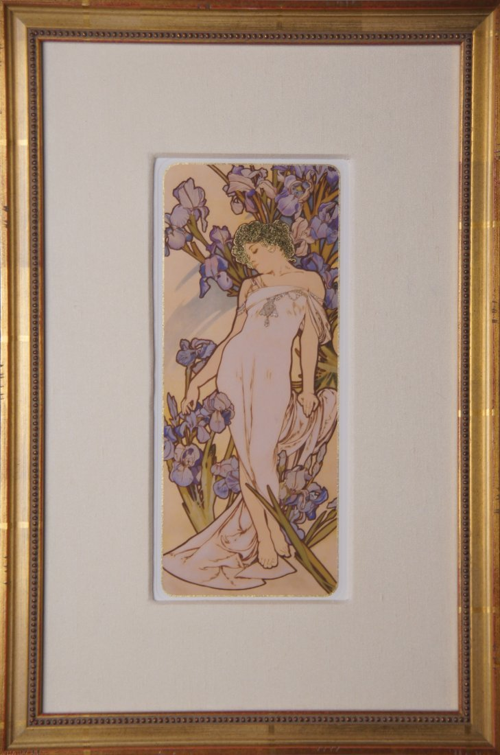Reproduction Framed Mucha