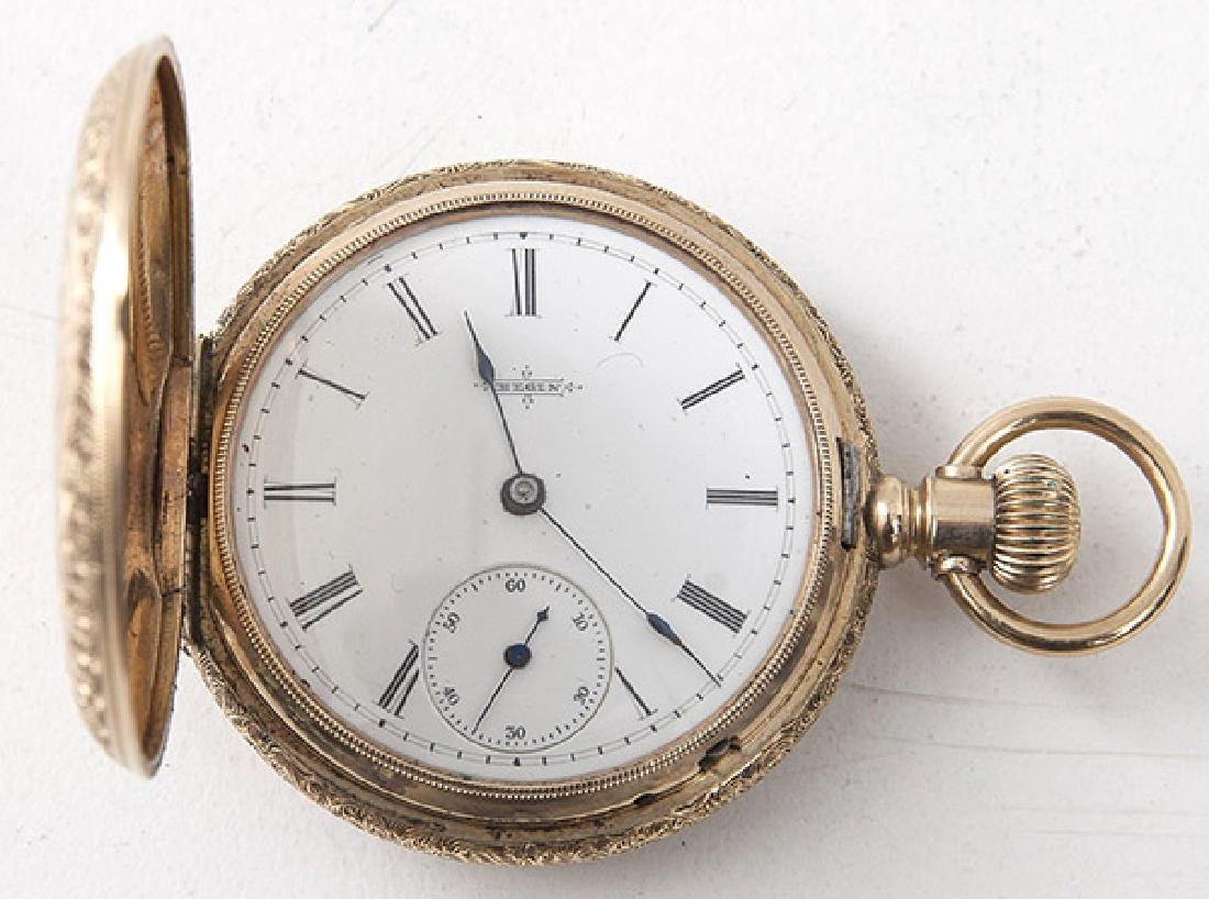 ELGIN 6 SIZE 14K GOLD POCKET WATCH