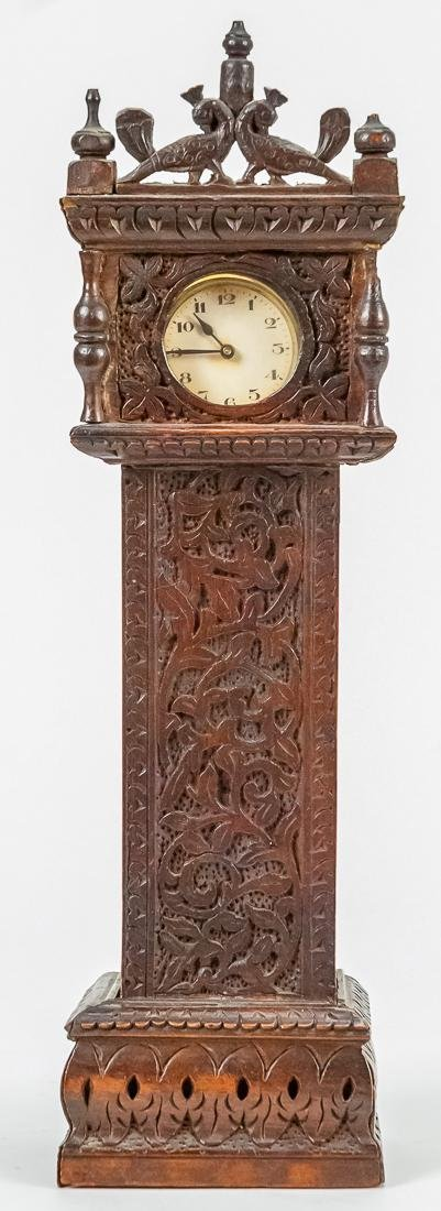 Miniature Tall Case Clock Watch Hutch