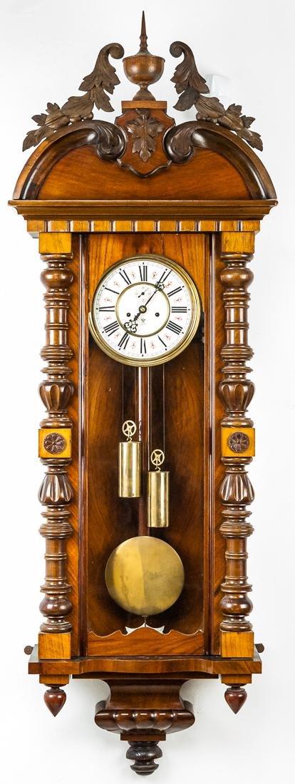Large Ornate Vienna Regulator Wall Clock
