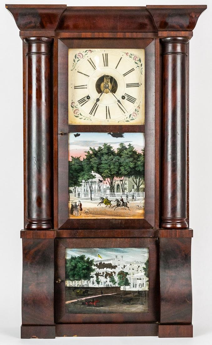Birge, Peck & Co. Triple Decker Shelf Clock