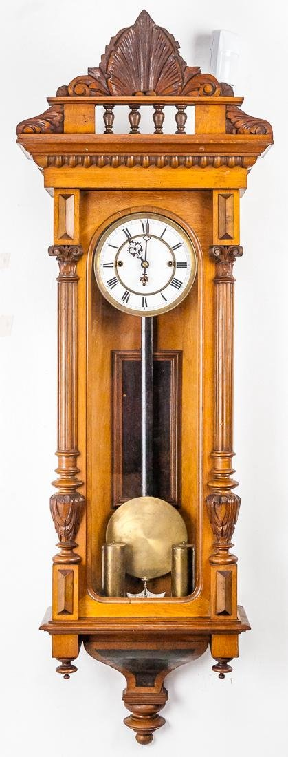 Large Carved Vienna Regulator Clock