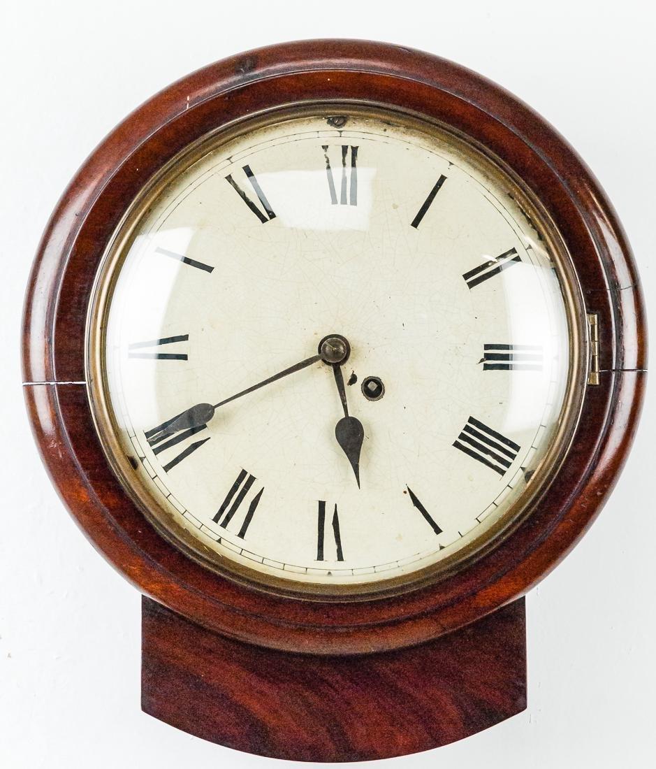 English Mahogany Hanging Wall Clock