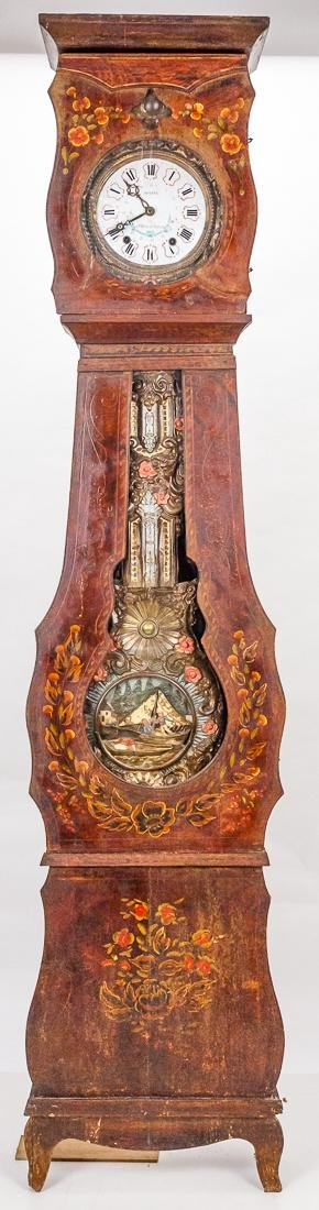 French Decorated Tall Case Clock