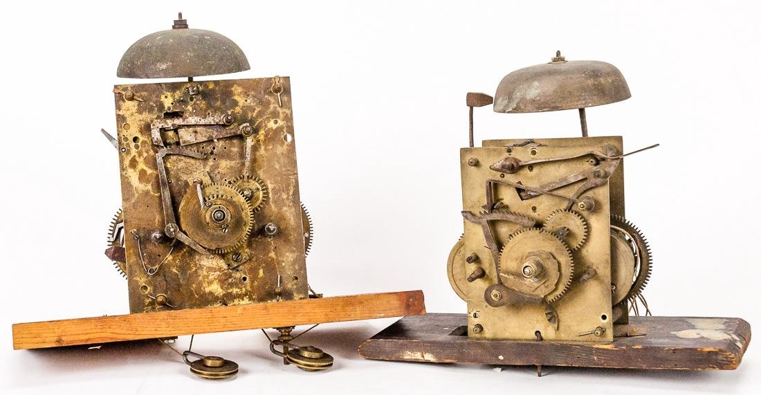 Two English Bell Strike Tall Case Clock Movements