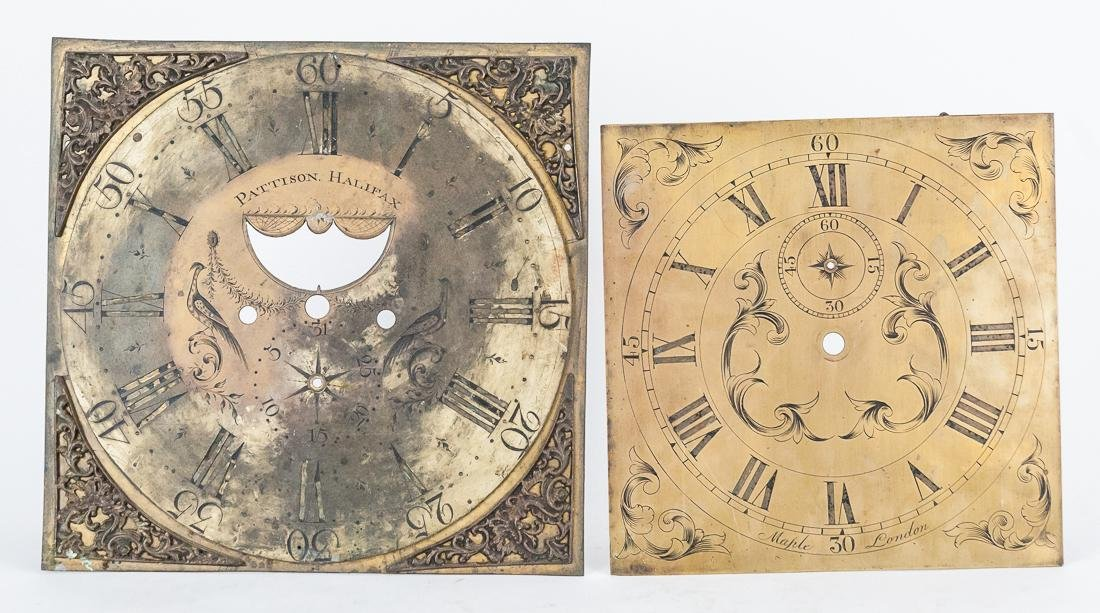 Two English Tall Case Clock Dials