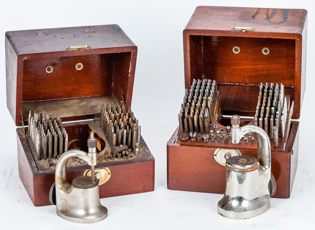 Two Sets of Boxed Watchmakers Tools