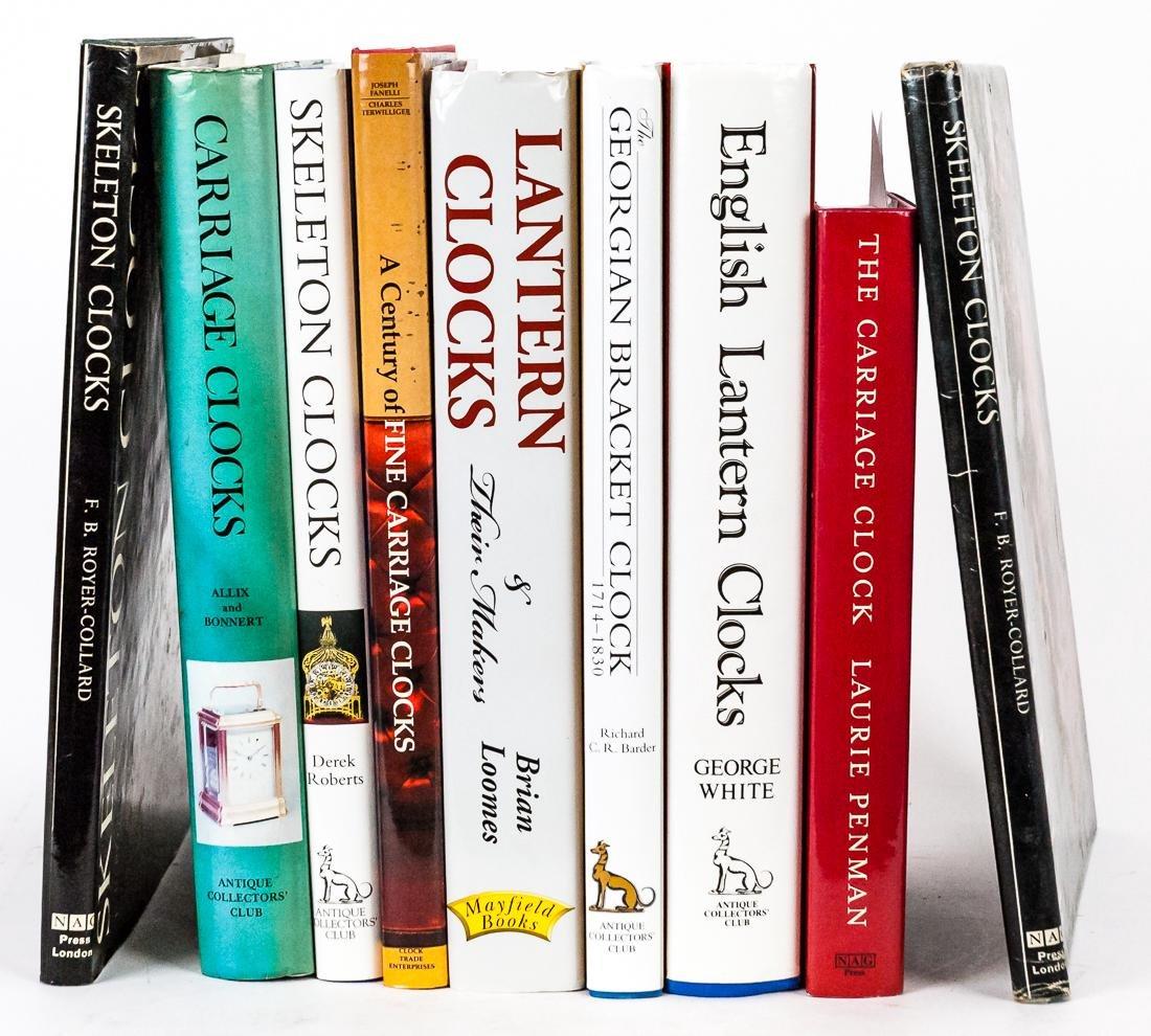 Nine Books on Clocks & Watches