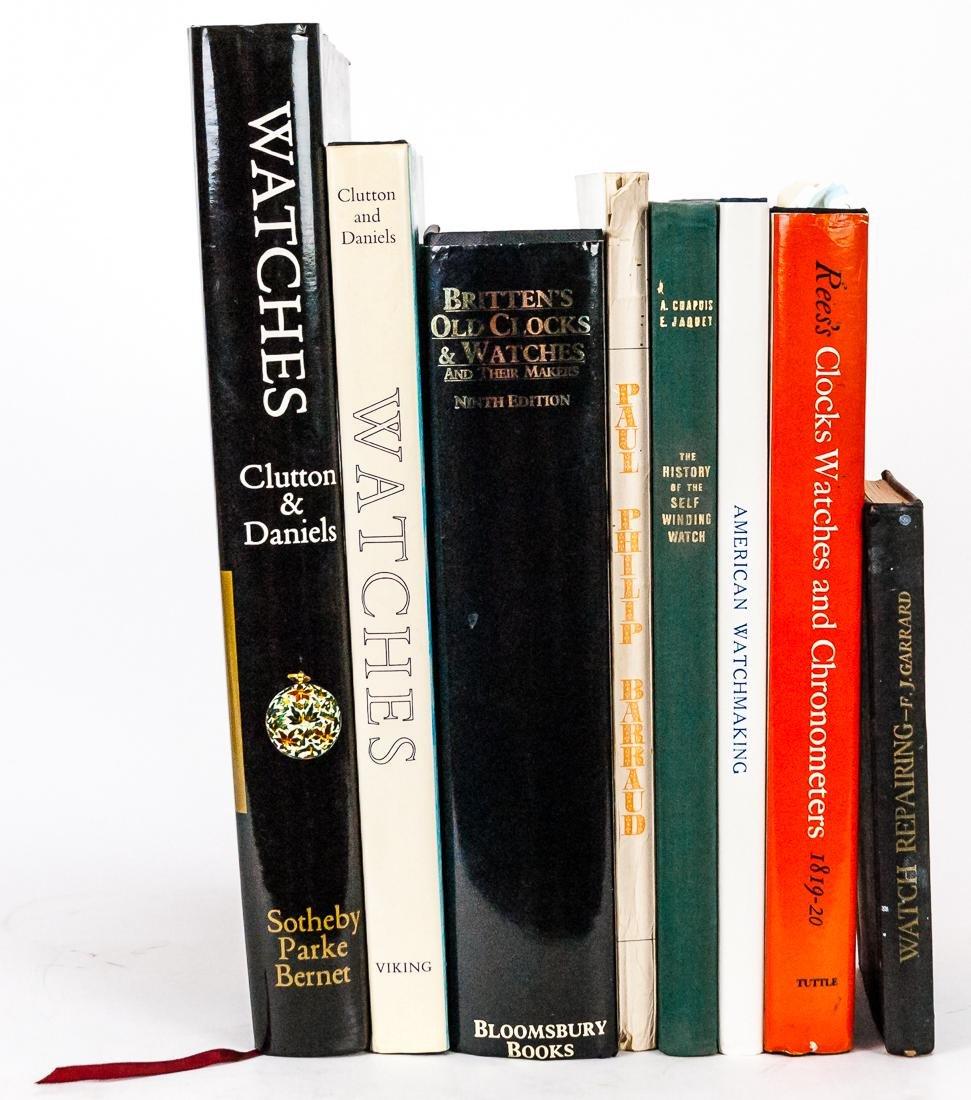 Eight Books on Watches & Clocks