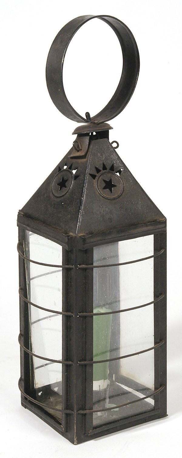 3: EARLY TIN CANDLE LANTERN