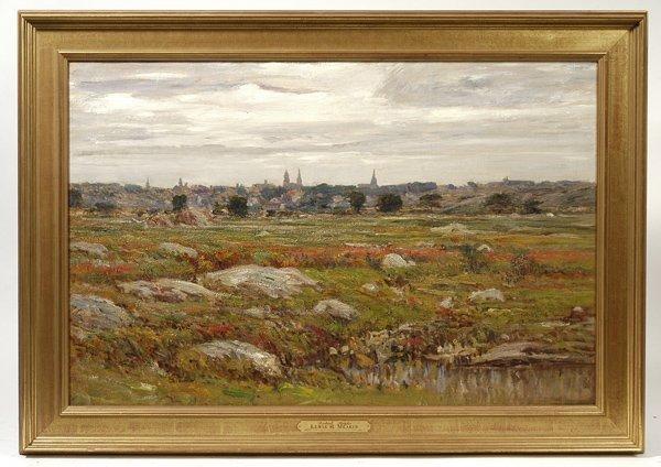 103: LEWIS HENRY MEAKIN (CINCINNATI, OH.) OIL PAINTING