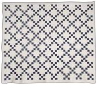 269 EARLY BLUE  WHITE PIECED QUILT