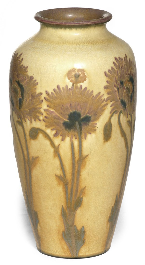 355: LARGE ROOKWOOD VASE BY A LEADING ARTIST