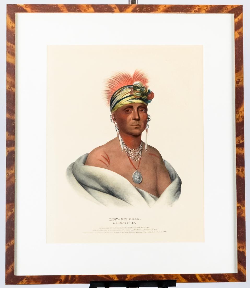 Bowen's Lithograph of A Kansas Chief