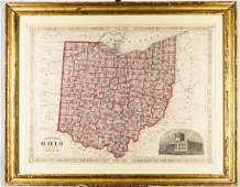 Johnson State of Ohio Map