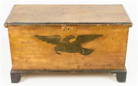 Eagle Decorated Blanket Chest