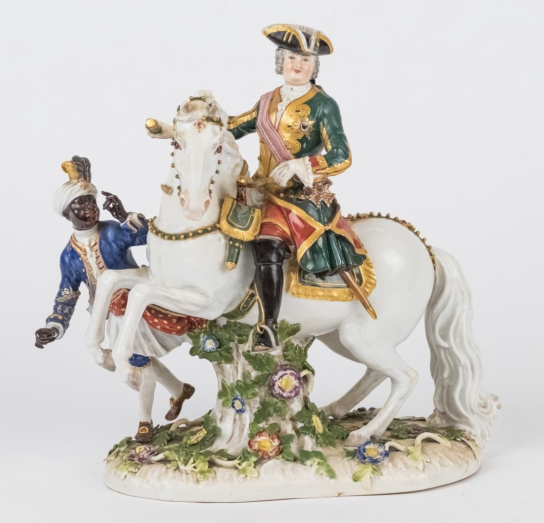 Meissen Equestrian Figure of Frederick The Great