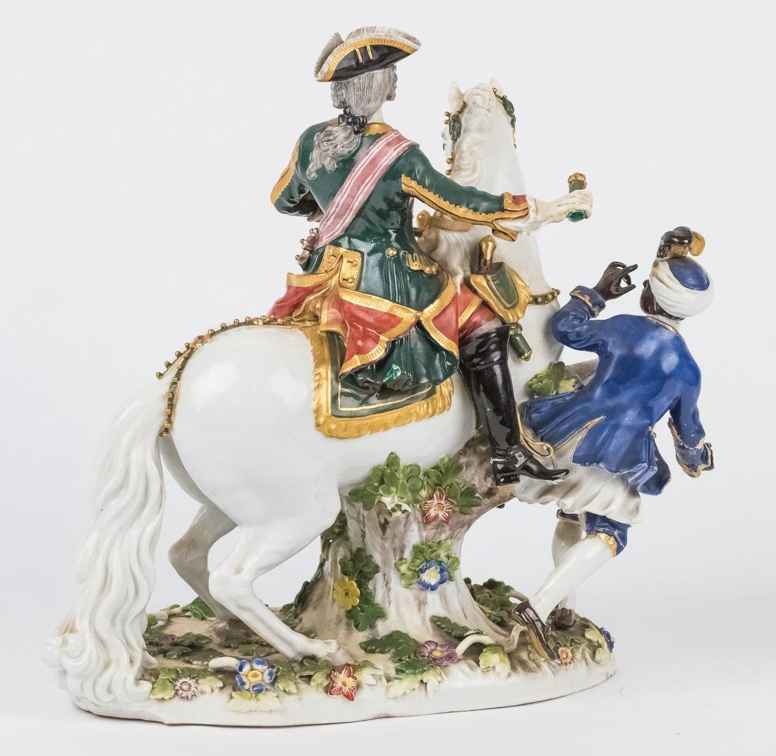 Meissen Equestrian Figure of Frederick The Great - 5