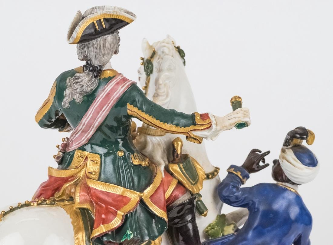 Meissen Equestrian Figure of Frederick The Great - 6