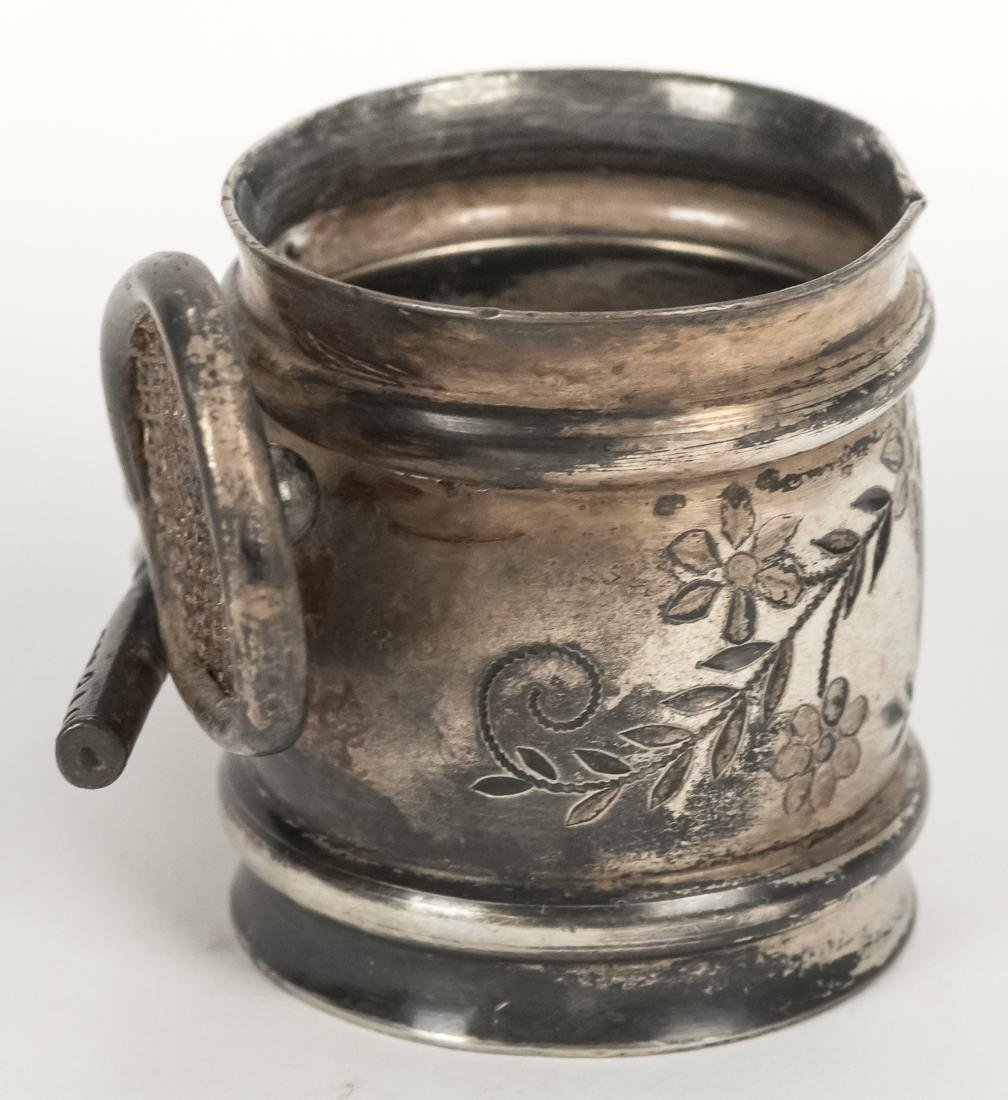 Figural Silver Plated Napkin Ring - 4