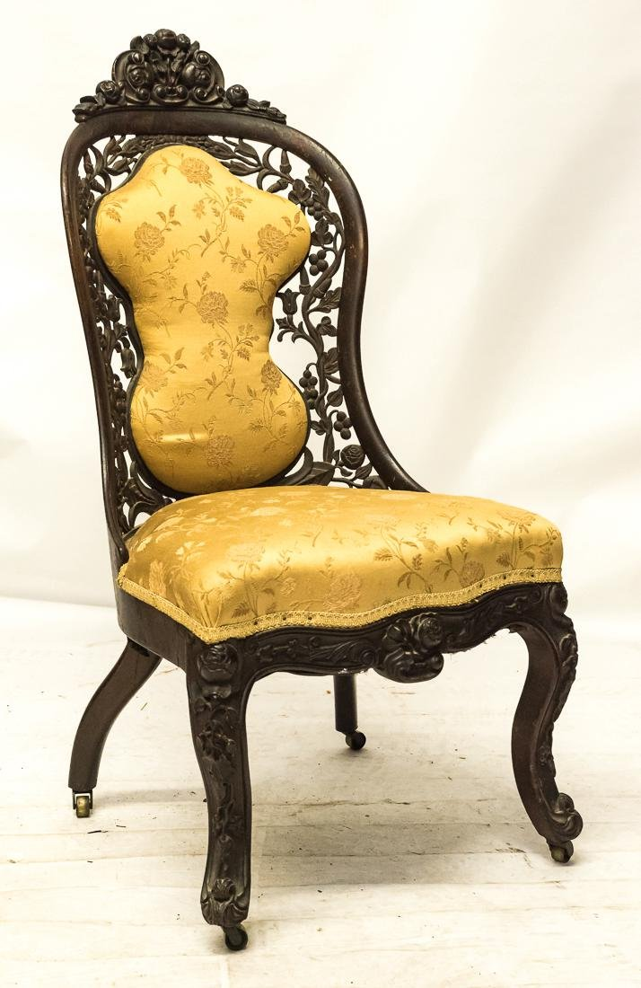 Belter Carved Side Chair