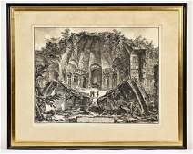Giovanni Battista Piranesi Lithograph of Roman Ruins