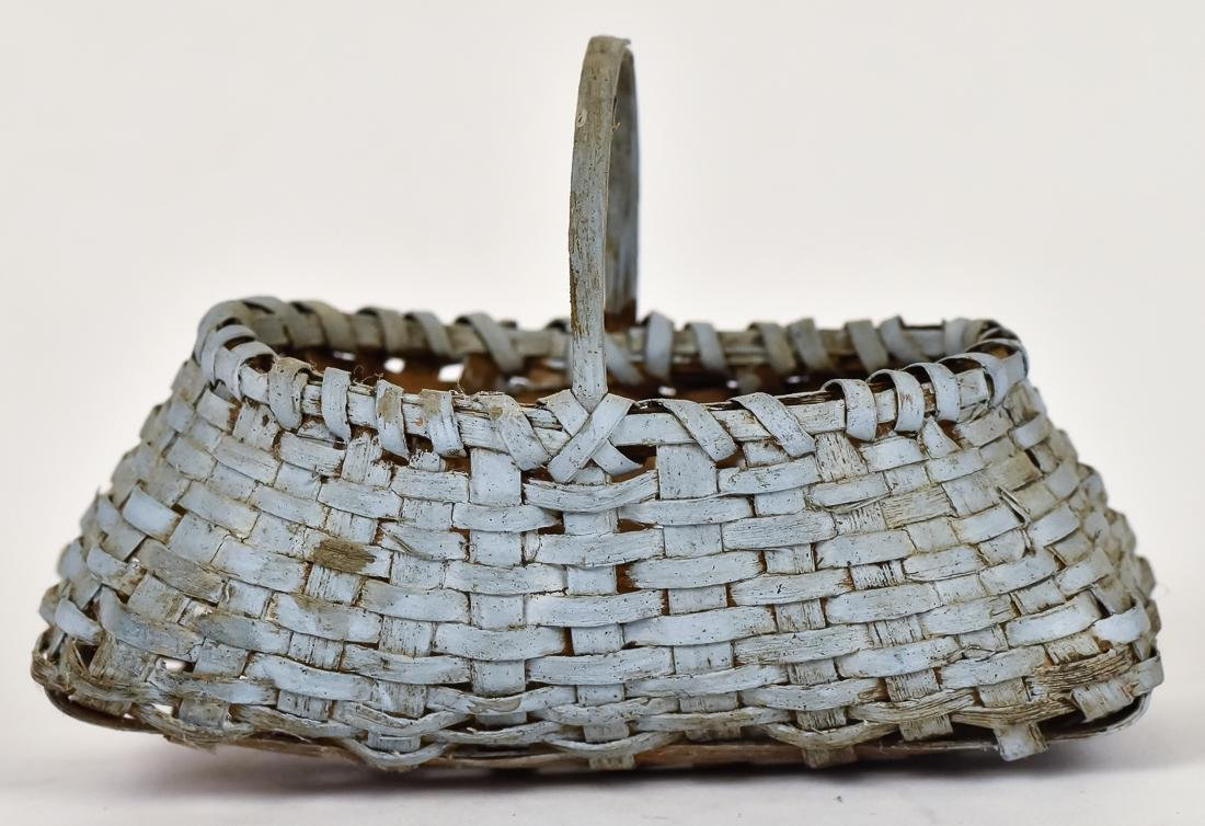 Great Miniature Basket with Old Blue Paint
