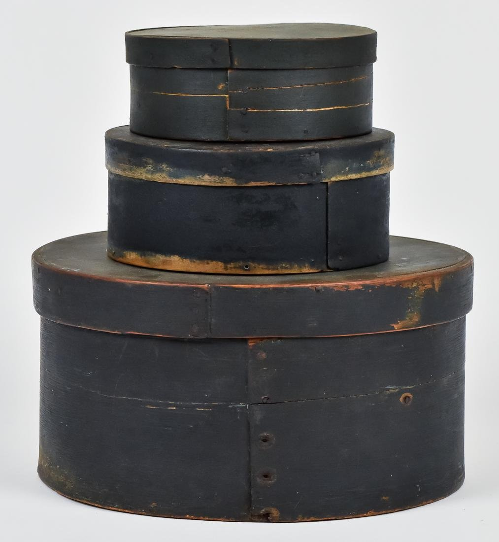 Nested Set of Bentwood Pantry Boxes in Old Paint