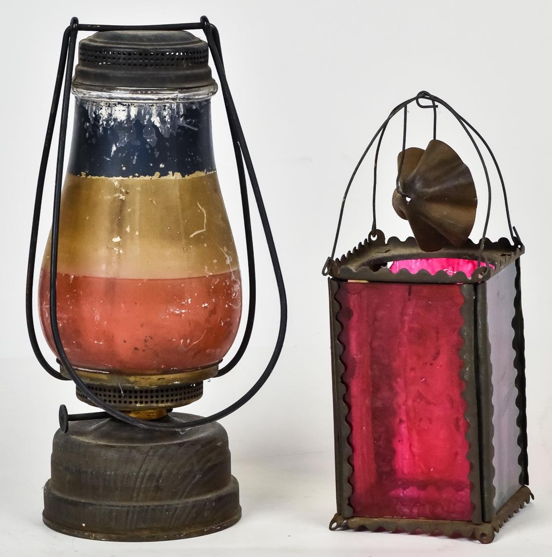 Two Early Skaters Lanterns