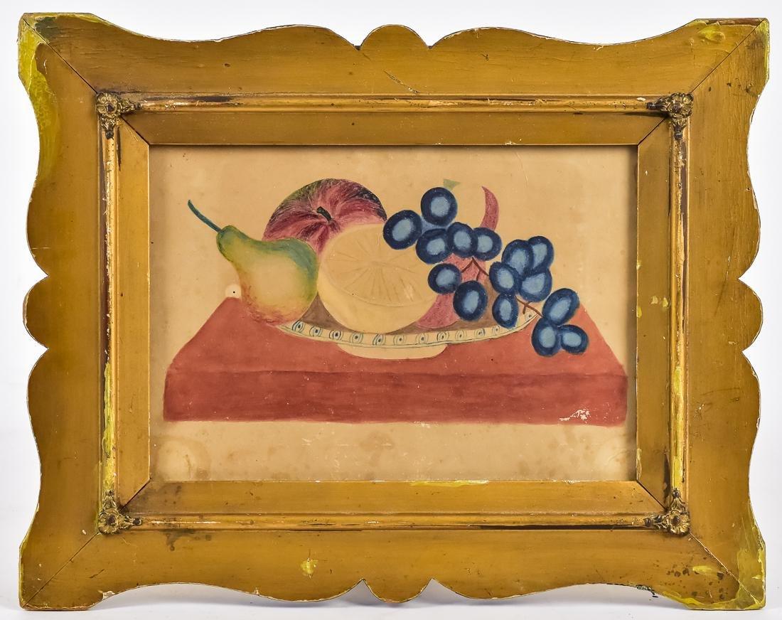 American Folk Art Watercolor Stil Life