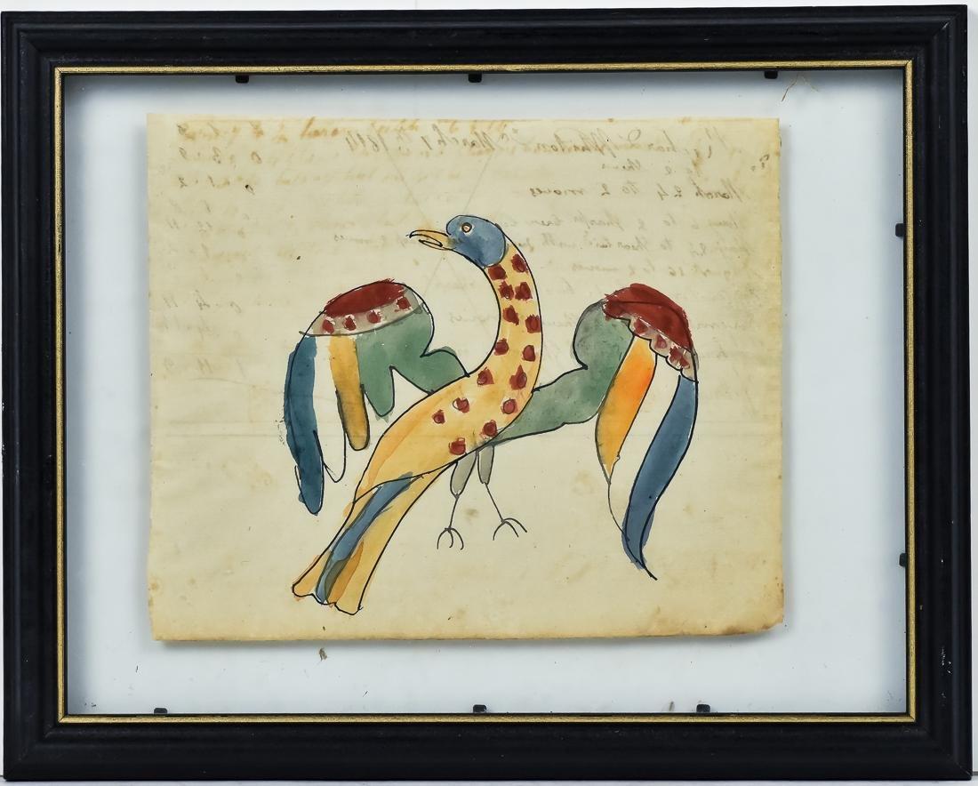 Fraktur Eagle on Ledger Sheet