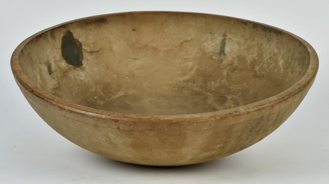 Large Early Turned Wood Bowl