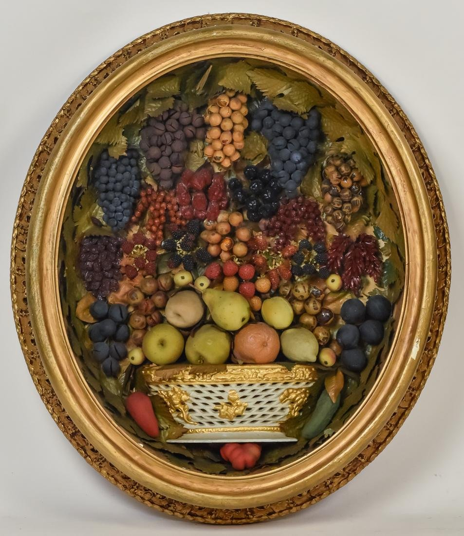 Victorian Shadow Box Fruit Basket