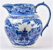 Large Early Staffordshire Transferware Store Display