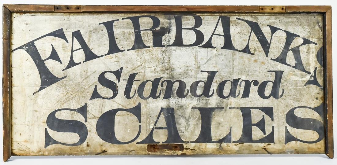 Wood Fairbanks Scales Sign