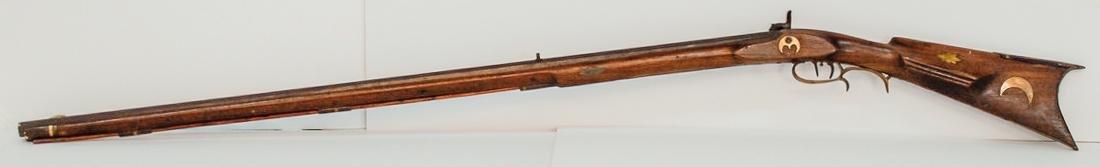 Inlaid Kentucky Full Stock Percussion Rifle
